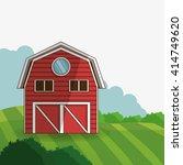 farm design. building icon.... | Shutterstock .eps vector #414749620
