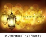 ramadan kareem greeting on... | Shutterstock .eps vector #414750559