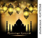 ramadan kareem greeting on... | Shutterstock .eps vector #414750568