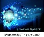 ramadan kareem greeting on...   Shutterstock .eps vector #414750580