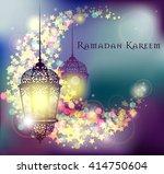 ramadan kareem greeting on... | Shutterstock .eps vector #414750604