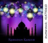 ramadan kareem greeting on... | Shutterstock .eps vector #414750610