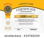 yellow ribbon certificate... | Shutterstock .eps vector #414760234