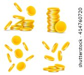 coins | Shutterstock .eps vector #414760720