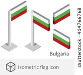 bulgaria isometric flag icon | Shutterstock .eps vector #414766768