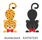 leopard and panther vector
