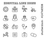hospital line icons  mono... | Shutterstock .eps vector #414768508