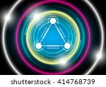 circle and triangle connection... | Shutterstock .eps vector #414768739