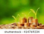 money growing concept business...   Shutterstock . vector #414769234