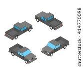 gray isometric pickup car... | Shutterstock . vector #414770098
