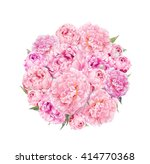 Floral Round Pattern With Pink...