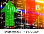 financial data on a monitor.... | Shutterstock . vector #414770824