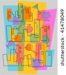 party invitation in retro style | Shutterstock .eps vector #41478049