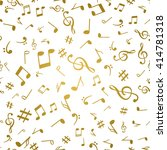 Abstract Golden Music Notes...