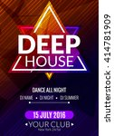 club electronic deep house...   Shutterstock .eps vector #414781909