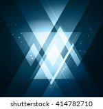 elegant geometric background... | Shutterstock . vector #414782710