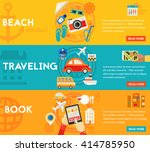 traveling concepts   beach ... | Shutterstock .eps vector #414785950