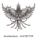 phoenix bird tattoo fictional...