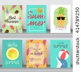 summer  holiday  vacation... | Shutterstock .eps vector #414789250