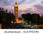 sunset view on the koutoubia... | Shutterstock . vector #414795190
