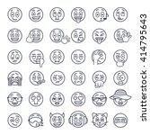 emoji emoticons. smiley face... | Shutterstock .eps vector #414795643