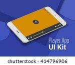 media player mobile app ui...