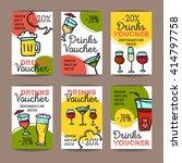 vector set of discount coupons... | Shutterstock .eps vector #414797758