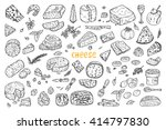 hand drawn doodle various types ... | Shutterstock .eps vector #414797830