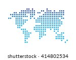 world map   dotted style    ... | Shutterstock .eps vector #414802534