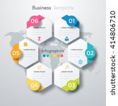 Vector illustration infographics six options. Template for brochure, business, web design | Shutterstock vector #414806710