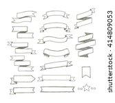ribbon set | Shutterstock .eps vector #414809053