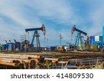 oil pump oil rig energy... | Shutterstock . vector #414809530