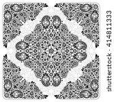 vector ornament paisley bandana ... | Shutterstock .eps vector #414811333