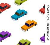 seamless car isometric pattern | Shutterstock . vector #414812938