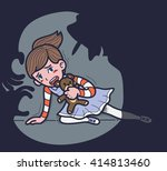 child sexual abuse | Shutterstock .eps vector #414813460