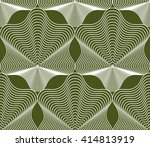 vector bright stripy endless... | Shutterstock .eps vector #414813919