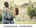 young multi ethnic couple... | Shutterstock . vector #414815464