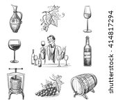 collection of vector images on... | Shutterstock .eps vector #414817294