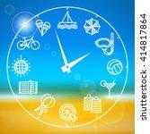 clock with different activities ... | Shutterstock .eps vector #414817864