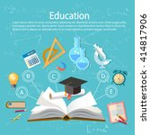 education infographics open... | Shutterstock .eps vector #414817906