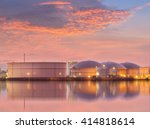 natural gas storage tanks   oil ... | Shutterstock . vector #414818614