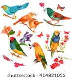 a set of victorian style... | Shutterstock . vector #414821053