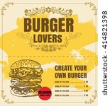 restaurant fast foods menu... | Shutterstock .eps vector #414821398