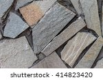 wall of natural stone | Shutterstock . vector #414823420