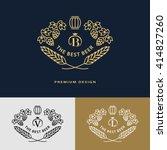 line graphics monogram. logo... | Shutterstock .eps vector #414827260