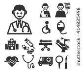 hospital icon set   Shutterstock .eps vector #414835498