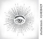 all seeing eye. new world... | Shutterstock .eps vector #414838429