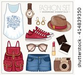 vector casual fashion set of...