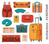 vector traveler's set of... | Shutterstock .eps vector #414839668