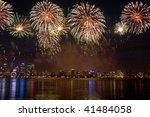 fireworks over the city and... | Shutterstock . vector #41484058